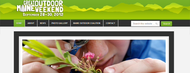 Great Maine Outdoor Weekend Website Screenshot
